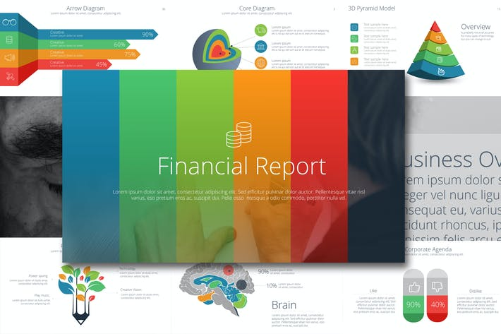 Thumbnail for Financial Report Powerpoint