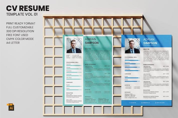 Thumbnail for CV Resume Vol. 01