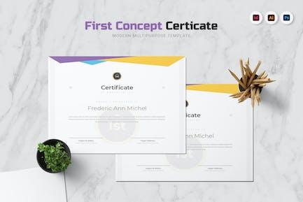 Premier certificat de concept