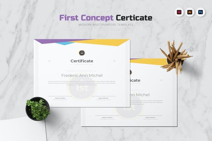 Thumbnail for Сертификат первой концепции