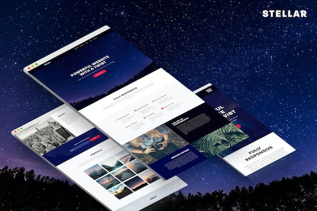 Stellar - Responsive Muse Template - product preview 3