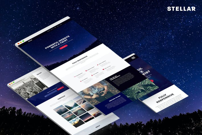 Thumbnail for Stellar - Responsive Muse Template