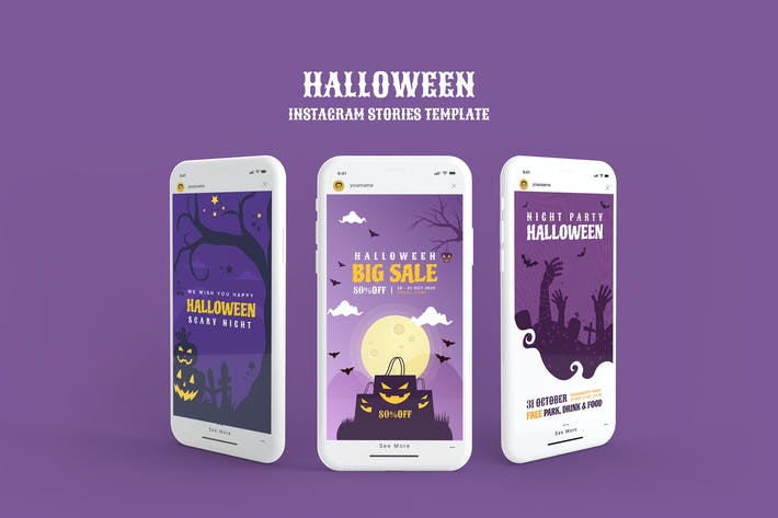 Thumbnail for Halloween Instagram Story Template
