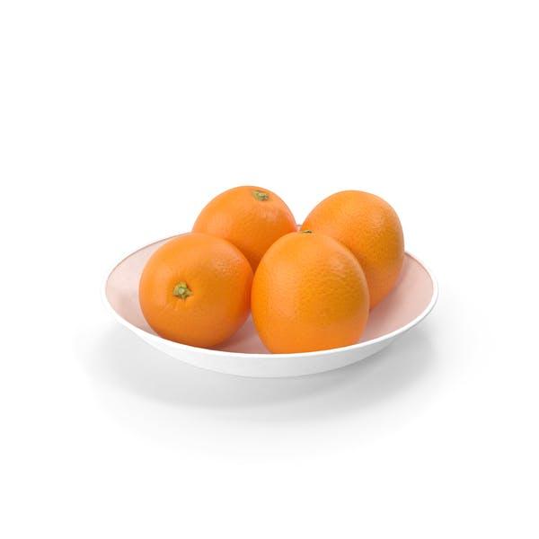 Plato con Naranjas