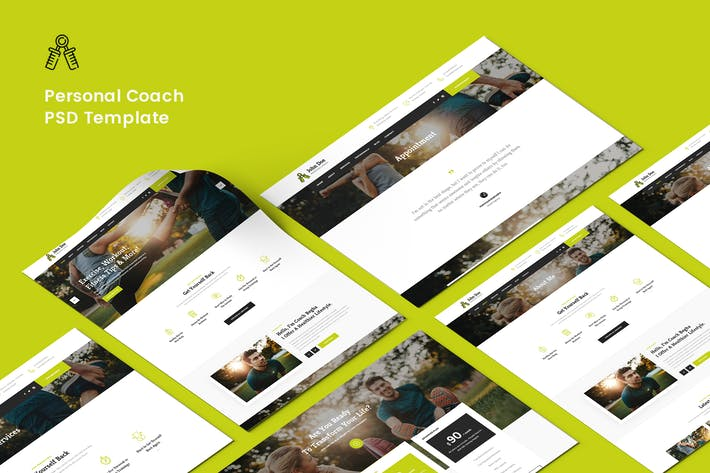 Personal Coach PSD Template