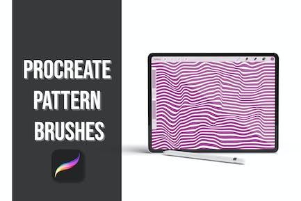 Procreate Pattern Brushes - Waves