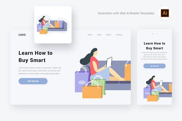 Thumbnail for Buying illustration (Illustrator & SVG)