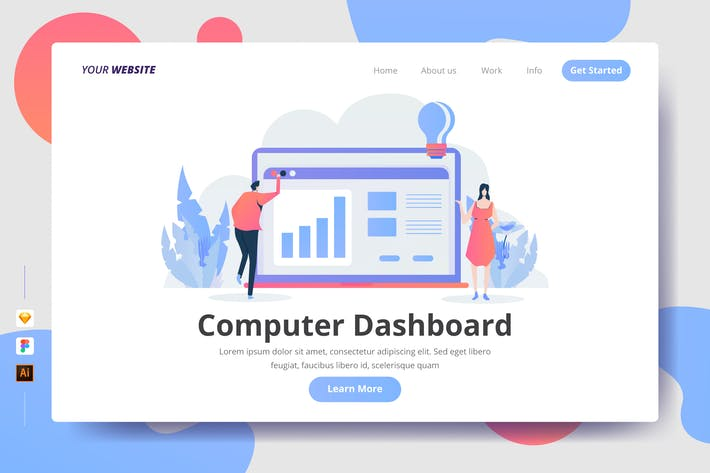 Thumbnail for Computer Dashboard - Landing Page