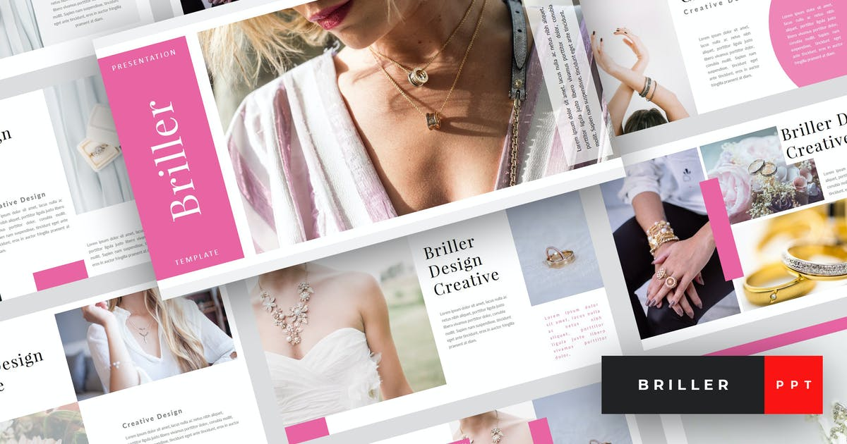 Download Briller - Jewerly PowerPoint Template by StringLabs