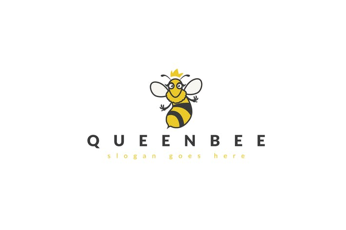 Cover Image For Queen Bee Logo Template