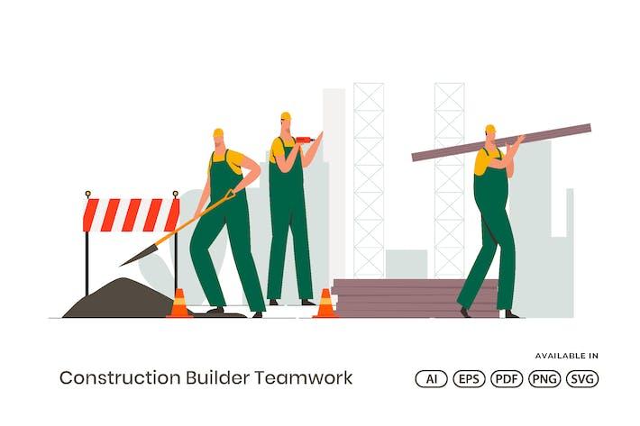 Командная работа строителей