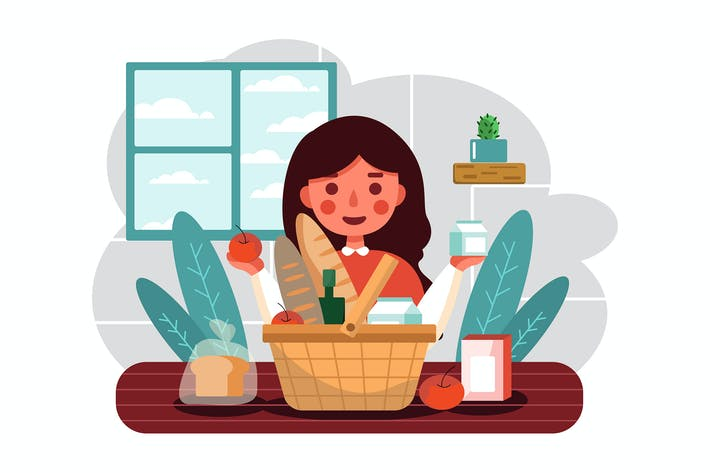Thumbnail for Shopping Basket vector illustration concept