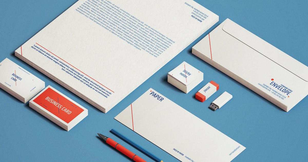 Download Stationery Mock-Up Template by EightonesixStudios