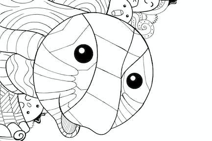 Schildkröte Doodle