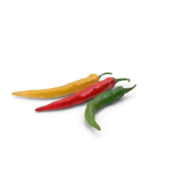 Colored Chili Pepper