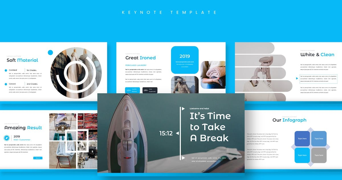 Download Cleany Room - Keynote Template by aqrstudio