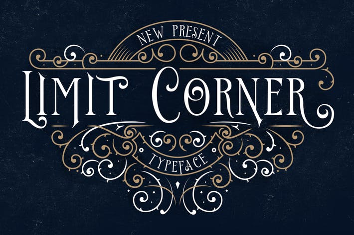 Thumbnail for Limit Corner Typeface