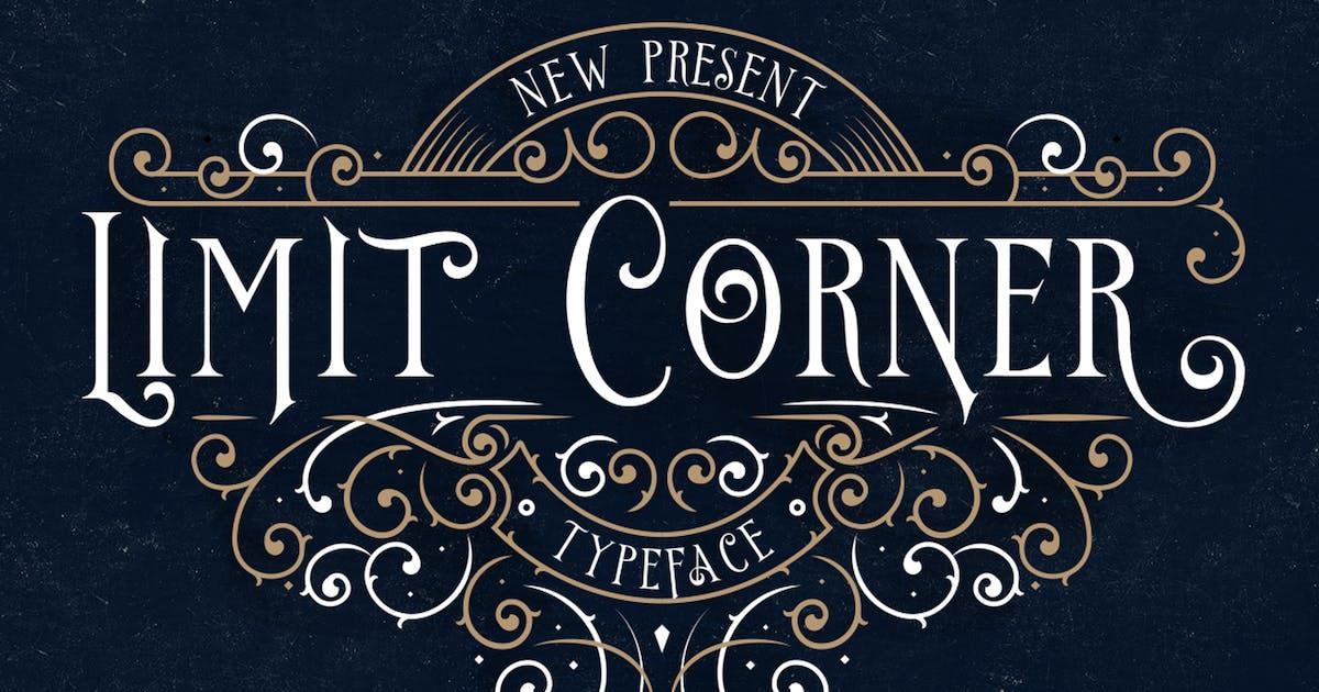 Download Limit Corner Typeface by jiwstudio