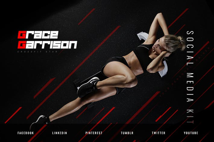 Thumbnail for Female Personal Fitness Trainer – Social Media Kit