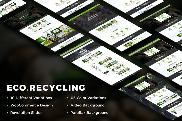 Thumbnail for Eco Recycling - A Multipurpose HTML Template