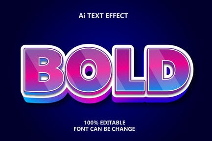 Bold Color 3d Text Effect