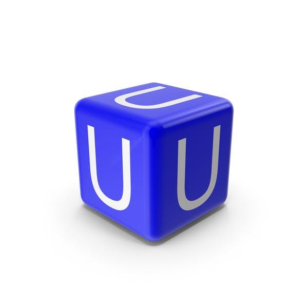 Синий U блок