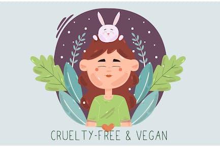 Tierversuchsfrei und vegan mit Frauencharakter