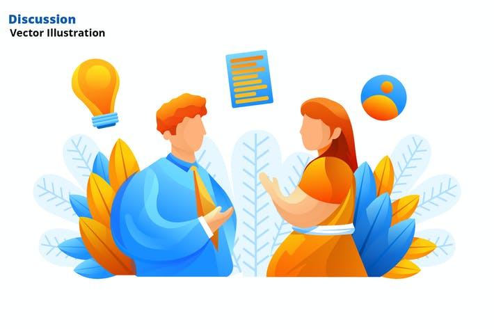 Thumbnail for Discussion - Vector Illustration