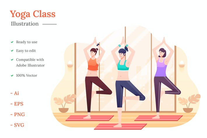 Yoga-Kurs-Illustration