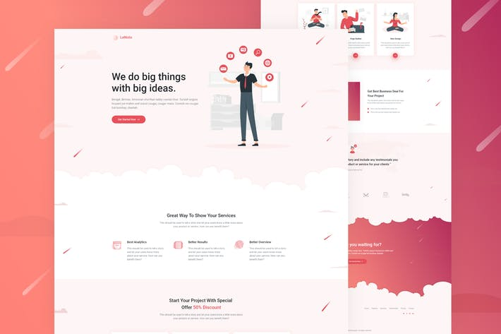 Thumbnail for LeNoto - Isometric Business Unbounce Landing Page