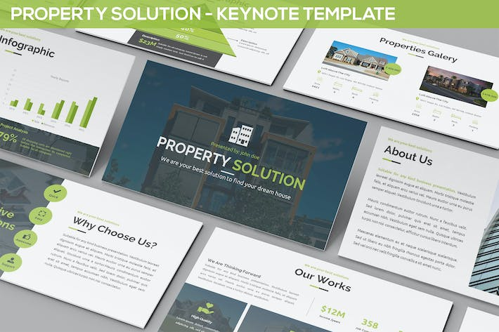 Thumbnail for Property Solution - Keynote Template