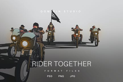 Rider Together Illustration