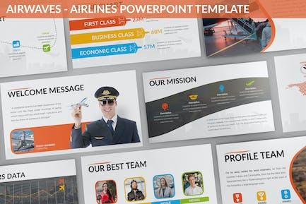 Airwaves - Airlines Powerpoint Template