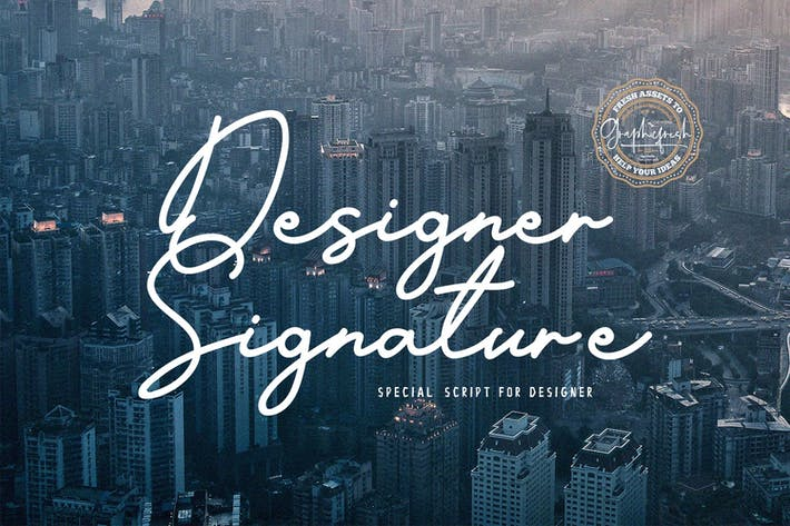 Cover Image For Designer Signature Font