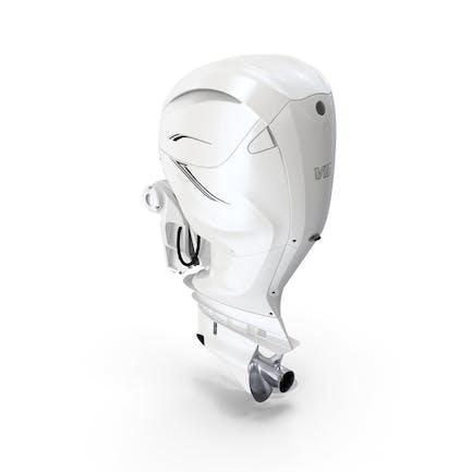 V8 Outboard Boat Motor White