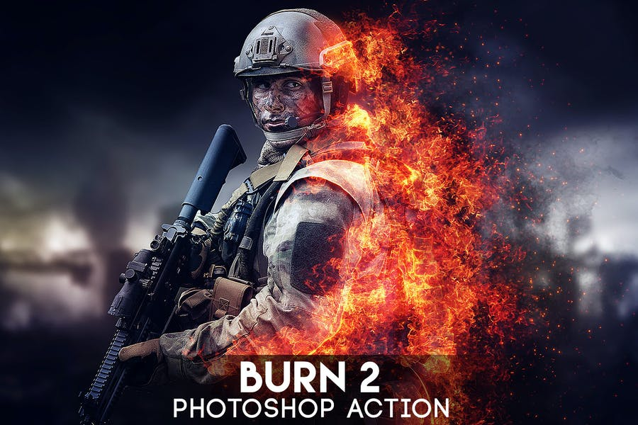 Burn 2 Photoshop Action