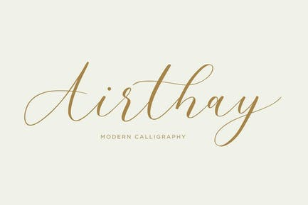 Airthay - Modern Calligraphy Wedding Font