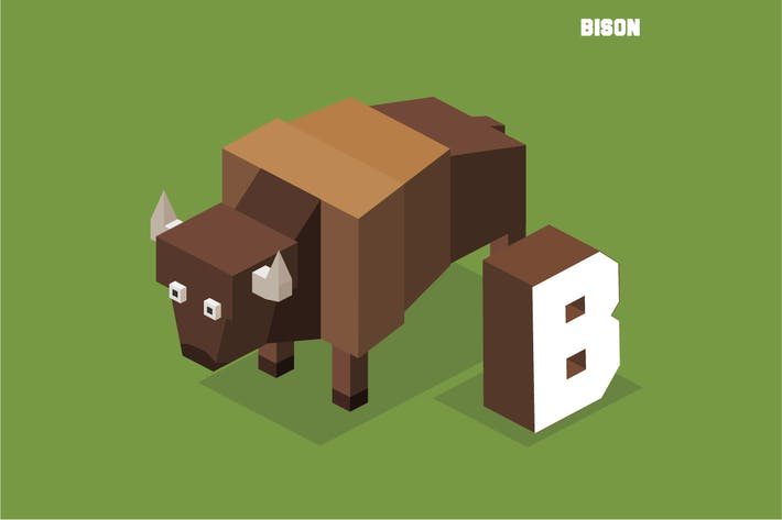 Cover Image For B for Bison, Animal Alphabet