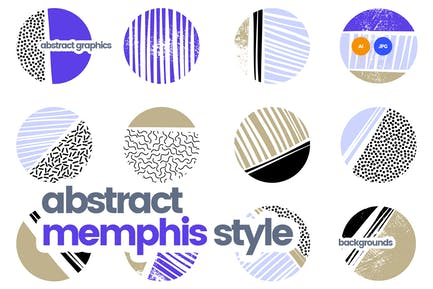 Abstrakte Muster im Retro Memphis Style Design
