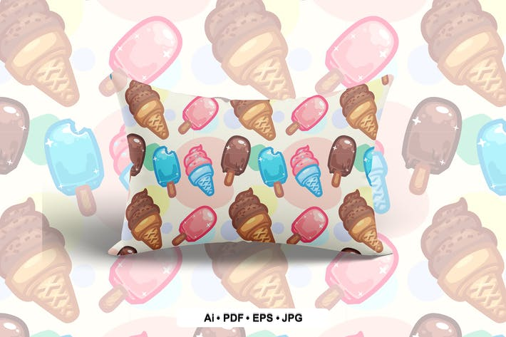 Thumbnail for Ice Cream Seamless Pattern