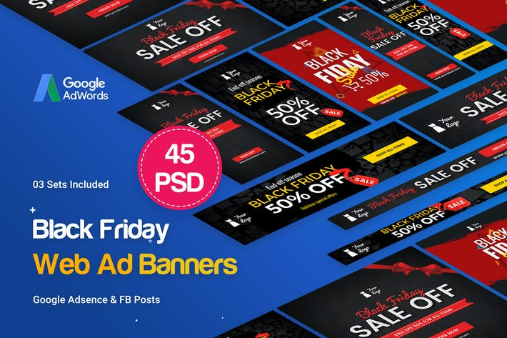 Cover Image For BlackFriday Banners Ad - 45 PSD [03 Sets]