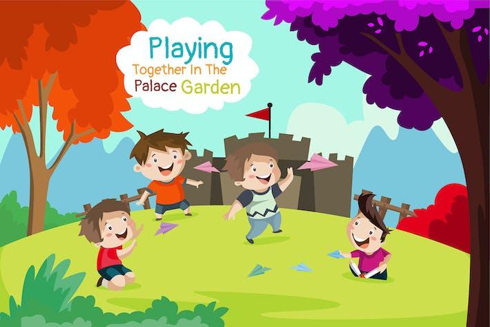 Palace Garden - Illustration