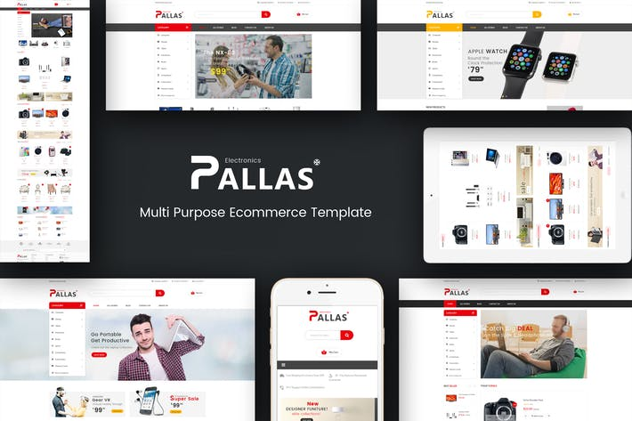 Thumbnail for Pallas - Responsive Magento Theme
