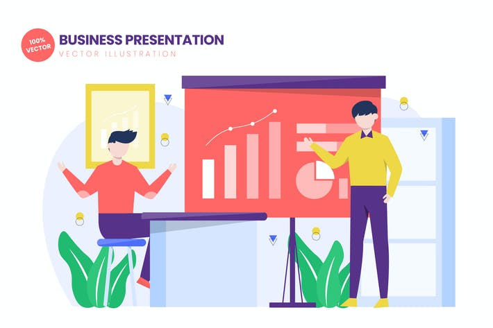 Thumbnail for Бизнес-презентация плоской Вектор иллюстрации