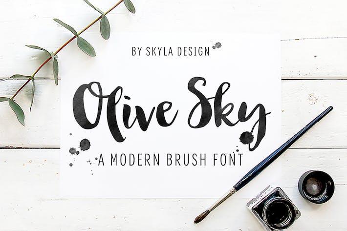 Thumbnail for Bold modern brush font - Olive Sky