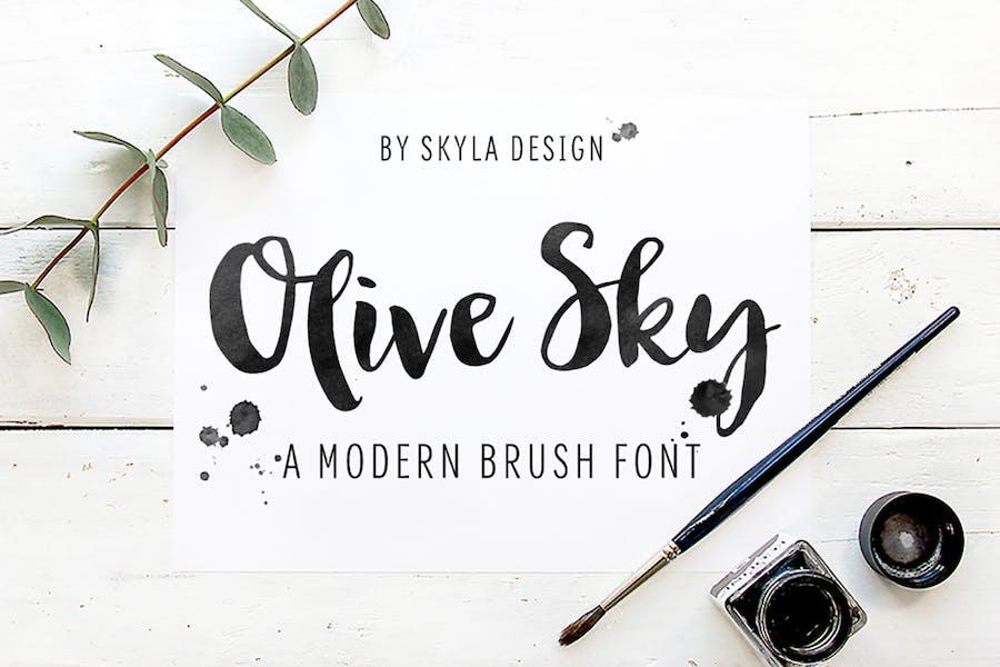 Police de pinceau moderne audacieuse - Olive Sky