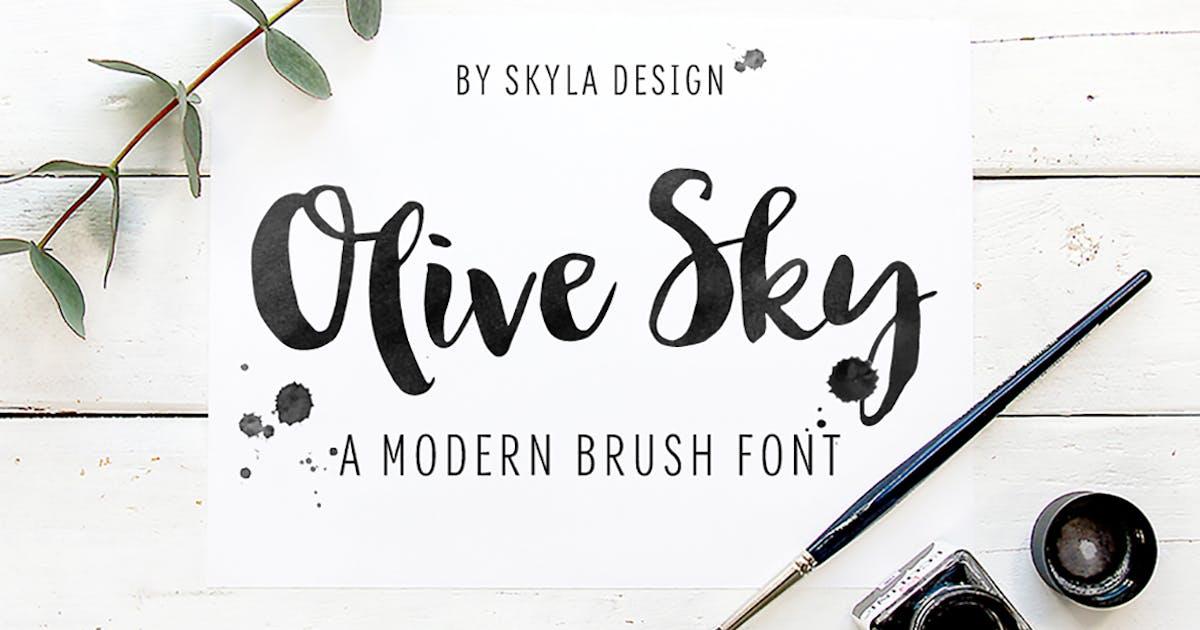Download Bold modern brush font - Olive Sky by skyladesign