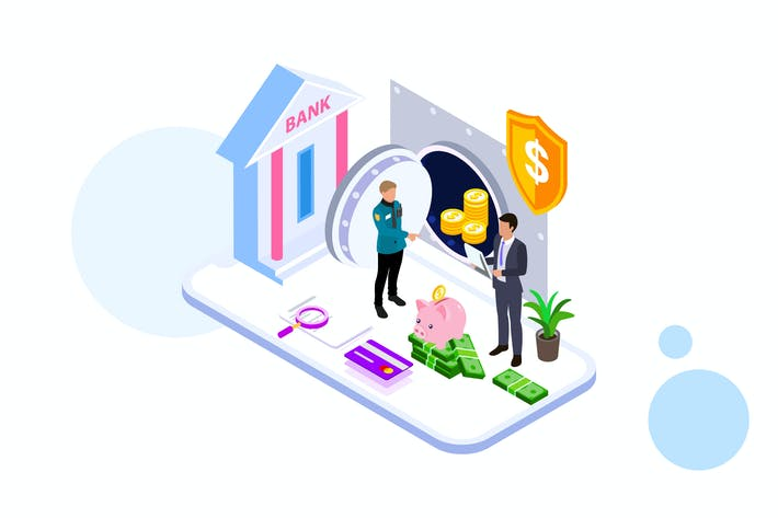 Thumbnail for Saving Money by Finance Isometric - FV