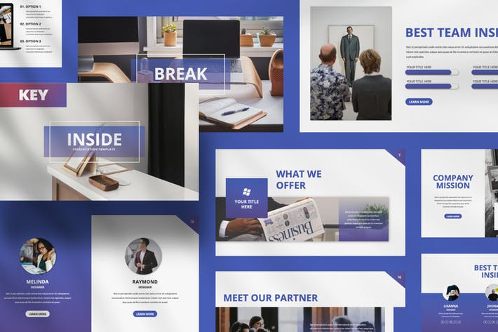 Thumbnail for Inside Creative Business Keynote Template