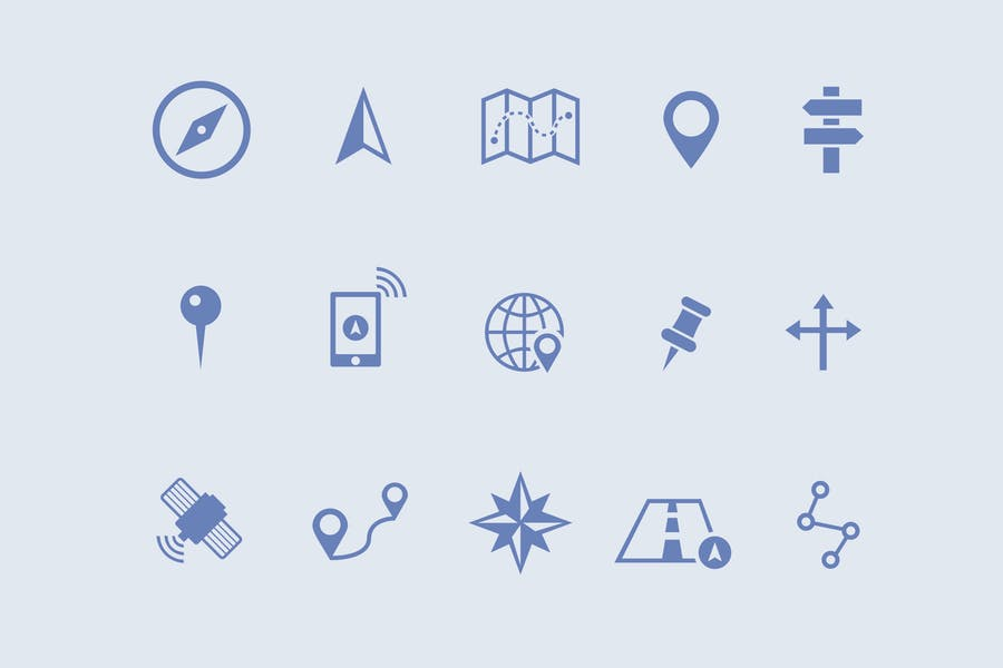 15 Map and Navigation Icons